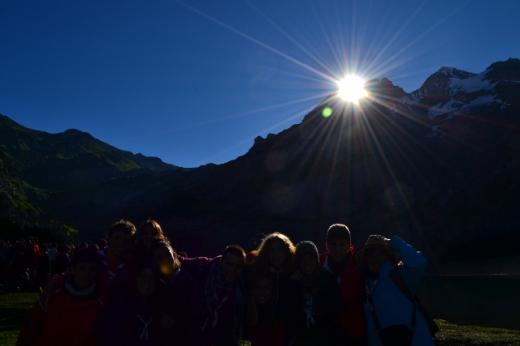 posta de sol, sol, vespre, fosc, muntanya, ombra, kisc, pic, aeig montsantcim