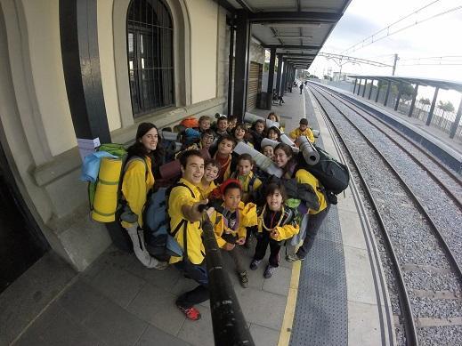 aeig montpalau, CiLL, tren, foto, selfie, estació