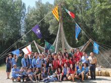 intercanvi, internacional, pic, aeig pla de l'estany, italia, girona, banderes, camises