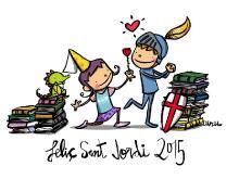 sant jordi, 2015, joan turu, il·lustració, gènere, princesa, drac, cavaller, rosa, llibre, regal